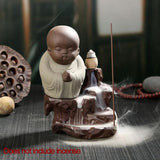 Burner Creative Monk Small Buddha Incense Holder Backflow - By Surya Shop