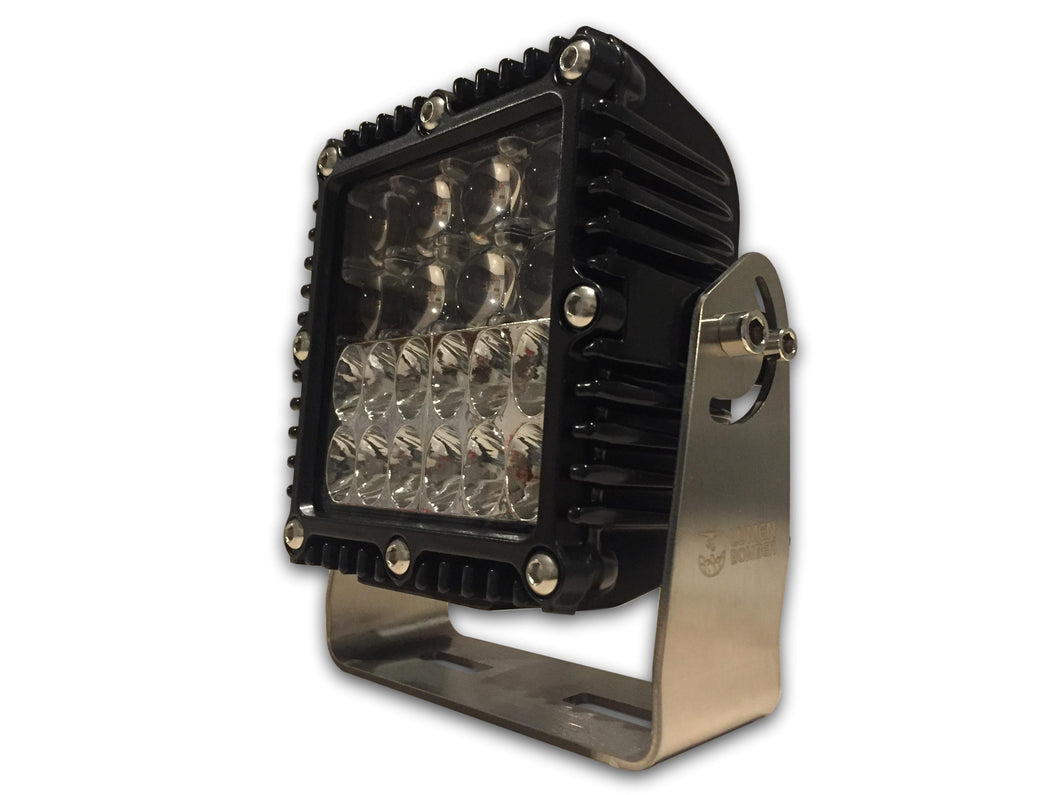 Heavy Duty 6.8inch Square Work Light 75w Flood / Hyper Spot Combo