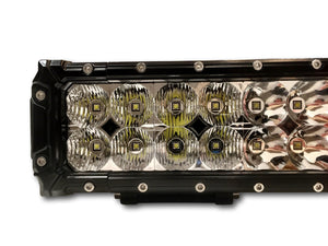 X17 Led light bar high output fron view showing lens design