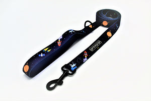 "Geniusgogo Padded Neoprene Handle Dog/Pet Leash 1"" X 5ft - Galaxy/Aliens"