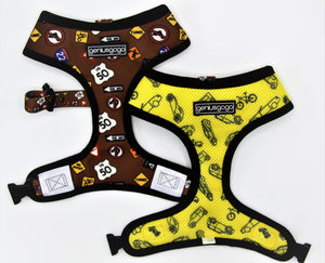 Geniusgogo Double Sided Mesh/Neoprene Dog/Pet Reversible Harness - Road Signs/Vehicles