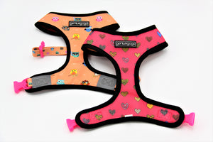 Geniusgogo Double Sided Mesh/Neoprene Dog/Pet Reversible Harness - Owls/Hearts