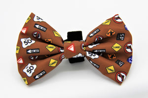 Geniusgogo Removable Soft Unisex Dog/Pet Bow Tie - Road Signs