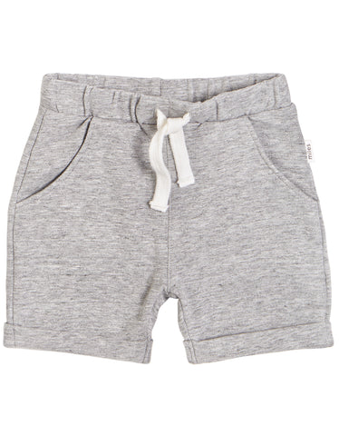 Miles Baby Shorts - Dark Heather Grey