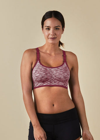 Body Silk Seamless Rhythm Nursing Bra - ROSEWATER SPACE DYE