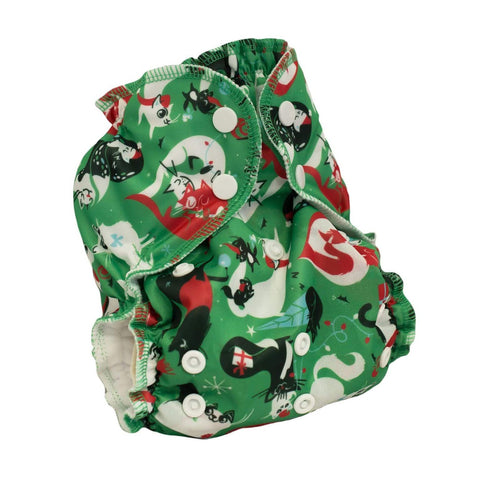 AppleCheeks One Size Cover - Santa Paws