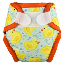 Tidy Tots Newborn Diaper Cover - Duckies