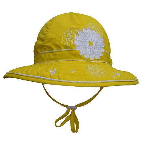 Calikids UV Adjustable Hat - Yellow