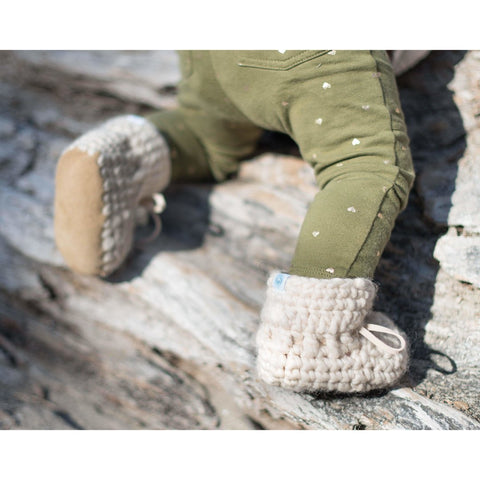 Bebe Bean Sweater Mocs - Oatmeal