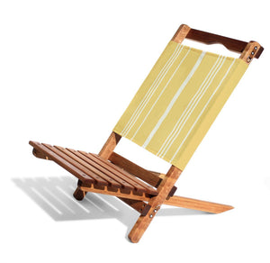 Business and Pleasure Two Piece Chair Yellow Stripe