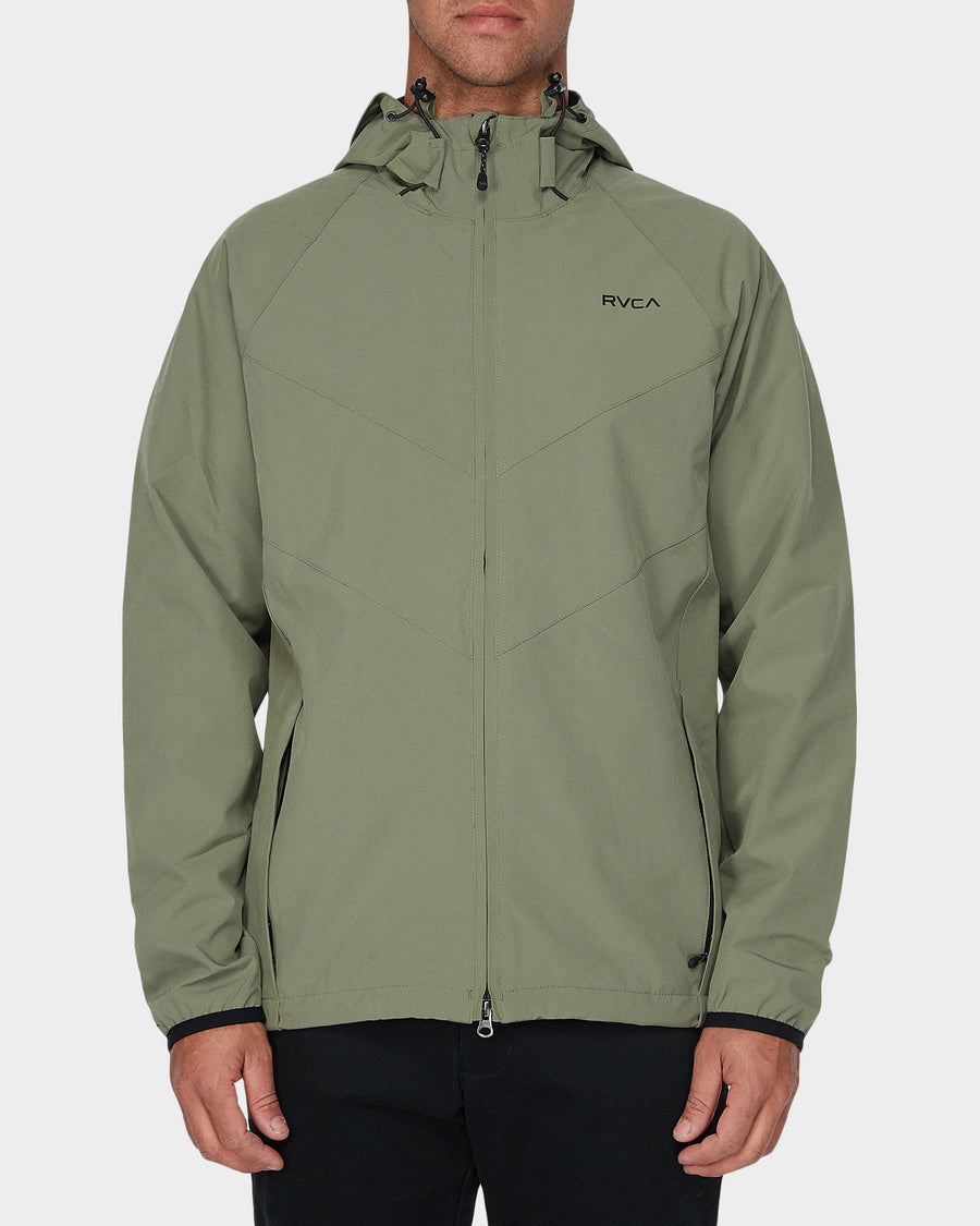 Rvca VA Windbreaker Fatigue Green