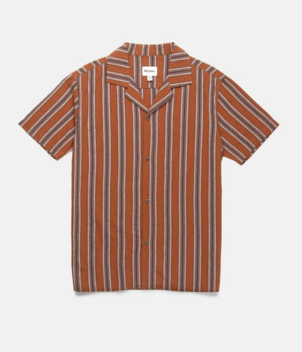 Rhythm Vacation Stripe SS Shirt Almond
