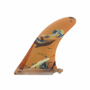 "Captain Fin Mason Dyer 8"" Single Fin Orange"