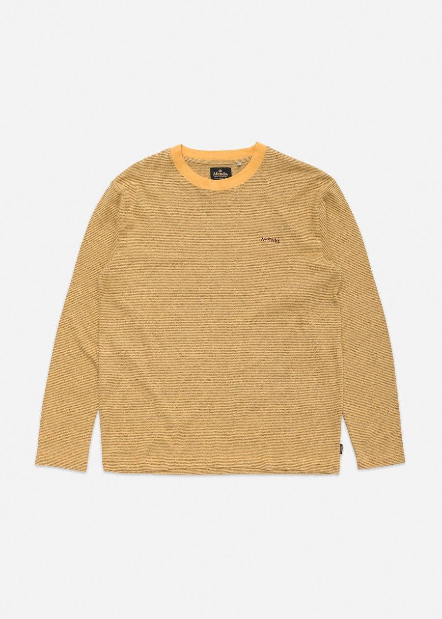 Afends Hemp Retro Fit LS Tee Mustard