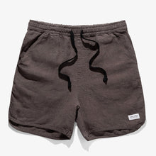 Banks Pathway Linen Walkshorts Black