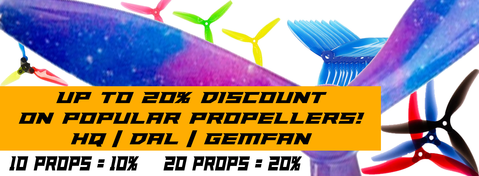 Up to 20 percent off props