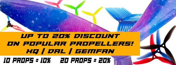 Bulk Propeller Discount for FPV Drone Racing and Freestyle sold by PyroDrone
