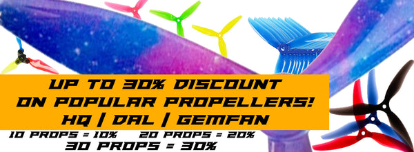 HQ Propeller Bulk Discount for FPV Drone Racing and Freestyle sold by PyroDrone