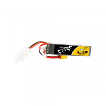 Tattu 450mAh 7.6V High Voltage 95C 2S1P Lipo Battery Pack with XT30 Plug - Long Pack