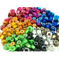 M3 FLANGED Anodized Locknut (5Pcs.) - Choose Color