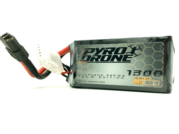 Pyro-Drone Graphene 1300mAh 4S 14.8V 95C By Who Cares!