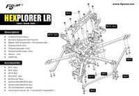 HEXplorer LR 4 Hexa-Copter Analog Frame Kit