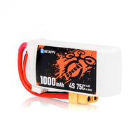 BetaFPV 1000mAh 4S 75C Lipo Battery - 2PCS