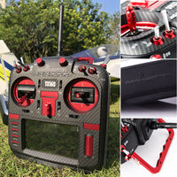 (PRE-ORDER) RadioMaster TX16S MAX Edition - Carbon face plate, Red CNC parts and Black Leather Grips