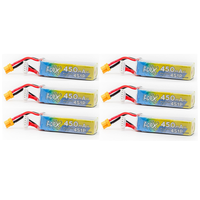 6 Pack - APEX 450mah 4s HV 15.2v LiHV Battery - XT30