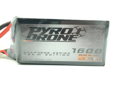 Pyro-Drone Graphene 1600mAh 6S 22.2V 75C By Who Cares!