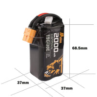 Auline 14.8V 4S 18650 2000mAh 30C Li-Ion Battery For Long Range - XT60