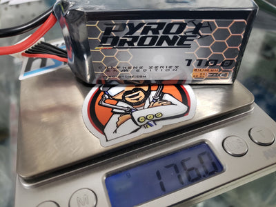 PyroDrone Graphene 1100mAh 6S 22.2V 75C By Who Cares!