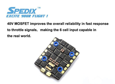 Spedix GS40F 4 IN 1 Mini ESC BLHELI-32