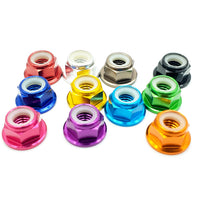 5mm Anodized Flanged Prop Locknut - (5 Pcs.) - Choose Color