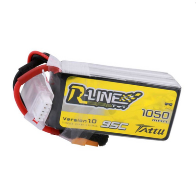 Tattu R-Line 1050mAh 95C 4S1P Lipo Battery Pack - XT60