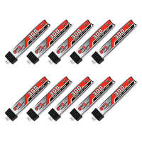 10 Pack of Gaoneng GNB 300mAh HV 3.8v 1S 30C - HV Lipo Whoop PH 2.0 Battery Plastic Head