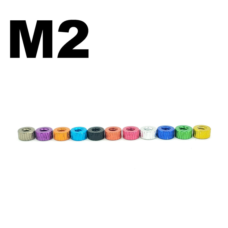 2MM THREADED M2 ANODIZED STACK SPACER (5 Pcs.)