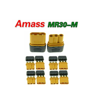 Amass MR30 Power Connectors for Motor to ESC Connection (Male + Female - 4 Sets, 8 pcs)