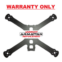 "WARRANTY ONLY - Armattan Chameleon Ti 6"" Main Plate (shim plate included)"