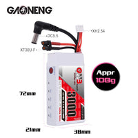 Gaoneng GNB 3000MAH 2S 5C Goggles Lipo Battery Power Indicator