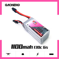 GNB GAONENG 1100mah 6S 22.2V 130c lipo battery for FPV Drone RC