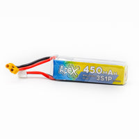 6 Pack - APEX 450mah 3s 11.1v Lipo Battery - XT30