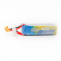 6 Pack - APEX 450mah 4s 14.8v Lipo Battery - XT30