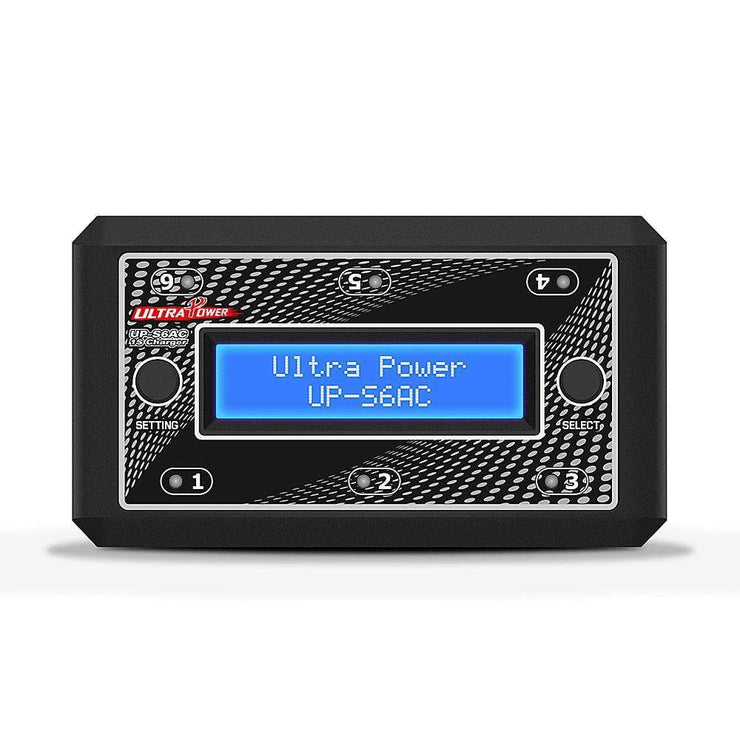 Ultra Power UP-S6AC 6x4.35W AC/DC 1S LiPo/LiHV Whoop Battery Charger w/ Micro MX, PH2.0, JST