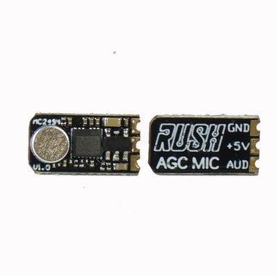 RUSH Ultra-small External Automatic Gain Control VTX Microphone