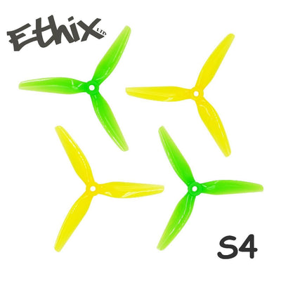 HQ Prop Ethix S4 5x3.7x3 Lemon Lime Propellers 1 Pack (4 Pieces)