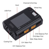 ToolkitRC M6D Dual Channel 500W 25A DC Battery Charger