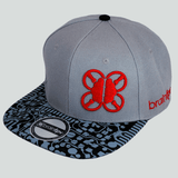 BrainFPV Snapback Cap- black and grey circuit brim