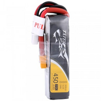Tattu 450mAh 11.1V 75C 3S1P Lipo Battery Pack-XT30 Long
