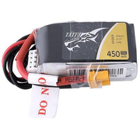 Tattu 11.1V 75C 3S 450mAh Lipo Battery Pack - XT30